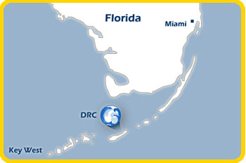 A graphic map of DRC in the Florida Keys