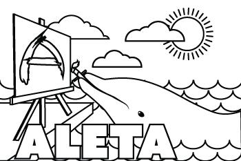 Aleta drawing.