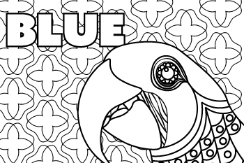 Drawing of Blue