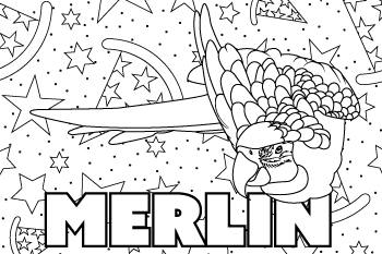 Drawing of Merlin