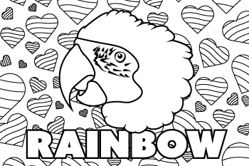 Drawing of Rainbow the Parrot