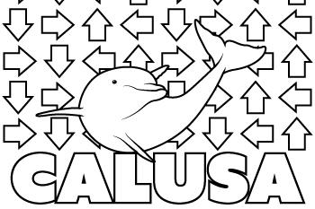 Calusa coloring page