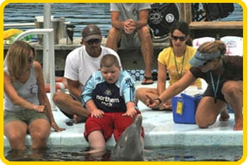 Dolphin Research Center offers additional assistance to any guests who need it for their swim with the dolphin or other interactive programs.