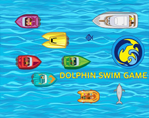 Play a dolphin swim game.
